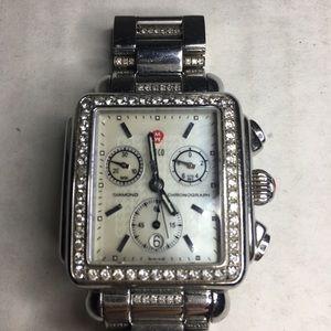 Women's MICHELE Deco Diamond Chronograph Watch